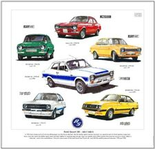 FORD ESCORT RS MkI/MkII  FINE ART PRINT - Mexico RS2000 RS1800 RS1600 Mark 1 / 2