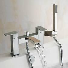Bath Filler Shower Mixer Tap with Handset Bathroom Taps Chrome Twin Head