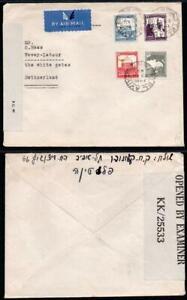 PALESTINE 1945 Censor Cover to Switzerland