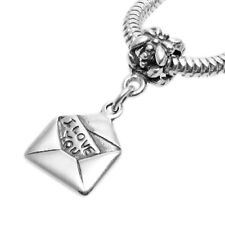 """925 Sterling Silver """"I Love You"""" Love Letter Euro Bead Charm"""