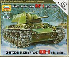 Zvezda 1/100 Soviet KV-1 Heavy Tank (Mod. 1940)  Z6141