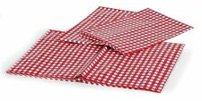 CAMCO 51021 Tablecloth-Red & White Vinyl with bench covers, Bilingual