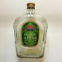 Crown Royal Regal Apple Havored  Whisky 1L Empty Bottle Bx-61