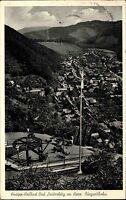 Bad Lauterberg Harz alte Postkarte 1957 Teilansicht Partie an der Burg Seilbahn