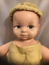 Vtg 14� Cameo Miss Peep Baby Doll Newborn Jointed Arms Legs Vtg Mustard Romper