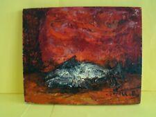 Signée Jean Marie Gouttin nature morte au poisson #1094#