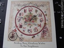 Handmade Personalised 12 Days of Christmas Card - Steampunk design