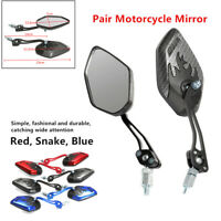 1 Pair Universal 8/10mm Motorcycle Mirror Rear View Side Motorbike Cycling Safe
