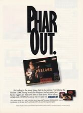 "Original PHALANX ""Phar Out"" old man  Nintendo SNES video game print ad page"