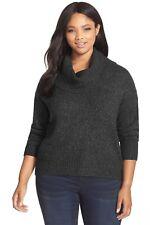 MICHAEL KORS ~Size 0X~ Wool-Blend Cowl-Neck Plus Size Sweater Top Retail $99