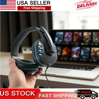 Gaming Headset Stereo Surround Headphone 3.5mm Wired For PS4 Xbox Mic One USA