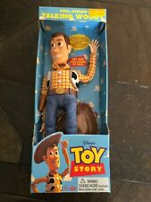 "1995 Vintage ""THINKWAY TOY STORY TALKING WOODY DOLL""  NIB Some Wear In Box"