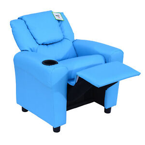 Recliner Armchair Children Chair TV Reading & Gaming Upholstered Leather New UK