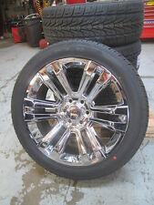 "22"" New GMC Yukon Sierra Factory Style Chrome Wheels 3054022 Nexen Tires 4741A B"