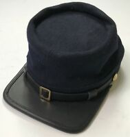 CIVIL WAR US UNION INFANTRY NAVY BLUE WOOL KEPI FORAGE CAP HAT-MEDIUM