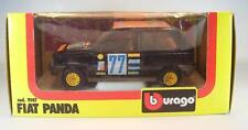 Bburago 1/24 Nr. 9147 Fiat Panda Limousine schwarz Rally Lombard OVP #3002