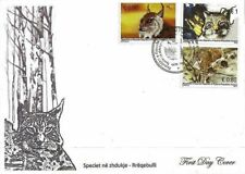 Kosovo Stamps 2015. Fauna. Species extinction: Lynx. FDC MNH