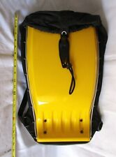 ERGO Techno Hard Shell Motorcycle or Ski Backpack Bag Yellow in Color