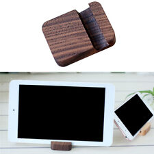 Wooden Moible Phone Holder Desk Stand Holder for Phone Tablet 4x5cm Brown