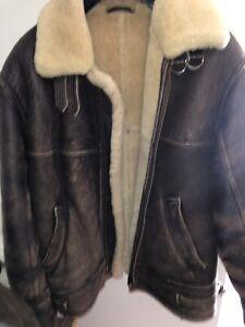 mens real sheepskin jacket