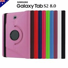 360 Rotate Leather Smart Case Folder Cover for Samsung Galaxy Tab S2 8.0
