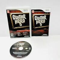 Nintendo Wii Game - GUITAR HERO 5 - Complete TESTED Working!