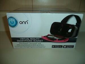 ONN VIRTUAL REALITY HEADSET FOR SMATPHONE NEW IN BOX PINK IN COLOR