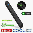 Dinofire Green Light Presentation Clicker Rechargeable Wireless Remote Control