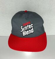 Vintage Castrol GTX Synthetic Blend Snapback Trucker Hat Baseball Cap green Red