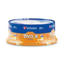 50 Verbatim DVD-R Branded 16x 2 x 25 pack NEW