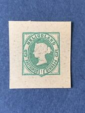 1875 HELIGOLAND  Postal Stationery Square Cut  3f ,5pf