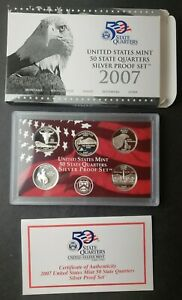 2007 United States Mint 50 State Quarters Silver Proof Set