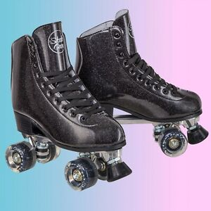 Skate Gear Glittery Roller Skates for Kids & Adults Men Women Youth Summer Ride