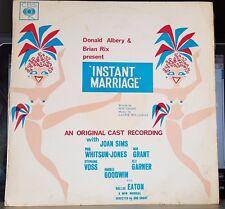 Instant Marriage, original cast, Joan Sims, Bob Grant - CBS orange label LP mono
