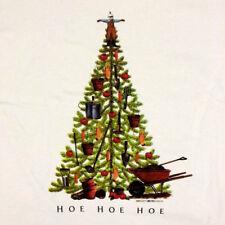 Christmas T-shirt M Farmer Scarecrow Tree Hoe Unisex NWT Short Sleeve Gildan