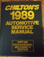 Chilton's Automotive Service Manual 1989