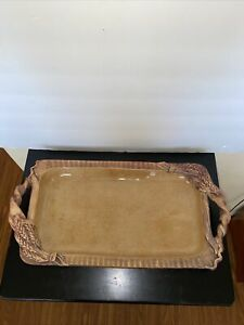 "Ellen Evans Pottery 18.8"" X 9.5"" Rectangle Handled Serving Platter"