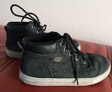 Lugz Shoes, Big Boys Kids Size 1, Black Textile, Laces, Youth Footwear