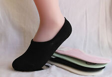 4 Pairs Ladies Girls Women No Show Invisible Low Cut Stretch Boat Socks SOL03