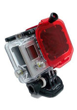Oculus Red Filter + Deep Dive Waterproof Housing Case for GoPro HD Hero 3 3+ 4