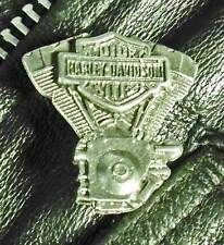 Harley-Davidson Motorcycle BAR & SHIELD H-D Twin Cam Engine Pewter pin 1009a