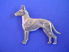 Manchester Terrier pin STANDING #84A Pewter Toy Dog Jewelry by Cindy A. Conter