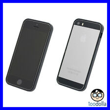 POWER SUPPORT Bumper protection band, front & back film set, iPhone 5s/SE, BLACK