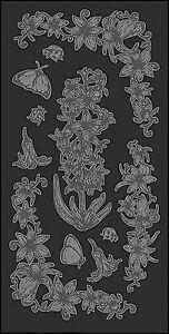 Mitchell Rub-On Glass Etch (Optik wie sandgestrahlt) Transferbogen 11,7 x 23 cm