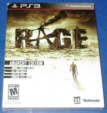 Rage Anarchy Edition  PS3 w/ Launch Slip Cover! New! Factory Sealed! Free Ship!