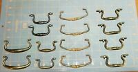 Lot of 14 Vintage Antique Drawer Pulls Swan Neck Mixed Lot