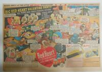 Red Heart Dog Food Ad: Red Heart Pups Valentines Day ! 1939 Size: 11 x 15 inches