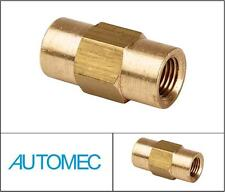 AUTOMEC Brake Pipe Brass Union Fitting 2 Way Connector Female 3/8 UNF 3/16 Pipe