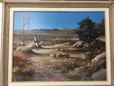 """Original Oil Painting Landscape by M. Allen, Signed, Framed, 24"""" x 17 1/2"""" Image"""