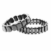 Shungite Bracelet Polished Beads EMF Protection Chakra Balancing Jewelry